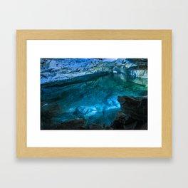 The underground lake Framed Art Print