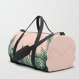 Tropical Ferns on Pink #society6 #decor #buyart Duffle Bag