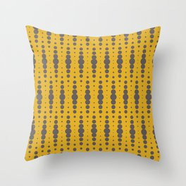 Yellow Blobby Squibbles Throw Pillow