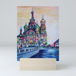 st petersburg  with church of the savior on blood Mini Art Print