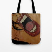 scream Tote Bags featuring Scream by KNIfe