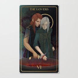 The Lovers (Tarot Triptych 2 of 3) Canvas Print