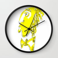 gentleman Wall Clocks featuring Gentleman by Boris Burakov