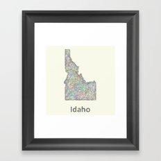 Idaho map Framed Art Print