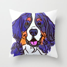 the Bernese Mountain Dog love of my life! Throw Pillow