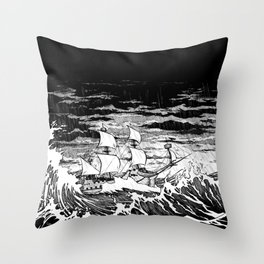 Galleon (line) Throw Pillow