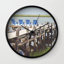 Brigantine Beach Chairs Wall Clock