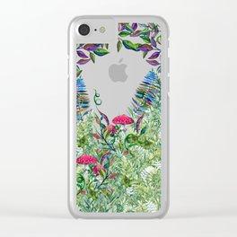 Night Garden Moon Magick Clear iPhone Case