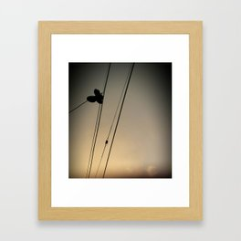 Even angels lose their shoes.  Framed Art Print