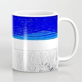 Blue river and a white landscape Coffee Mug