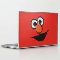 elmo Laptop & iPad Skins featuring Knit Elmo by colli13designs