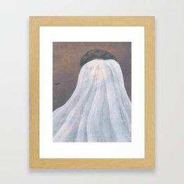 """""""Ghost Self Portrait"""" / Rembrandt Framed Art Print"""