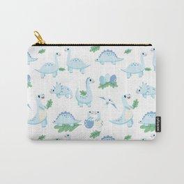 Dinosaur Mini - Blue Carry-All Pouch