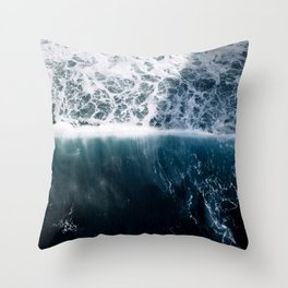 Sun Wave in the Atlantic Ocean - Seascapes Throw Pillow