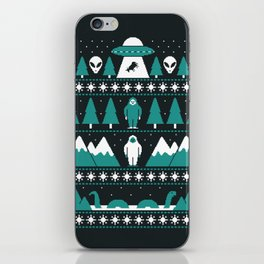 Paranormal Xmas iPhone Skin