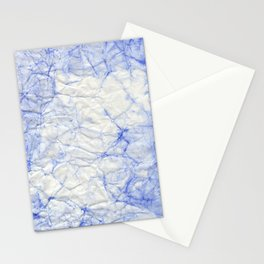 blue crumpled paper Stationery Cards