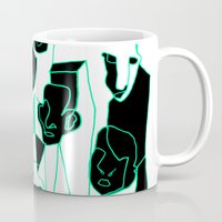 faces Mugs featuring Faces by esther walter
