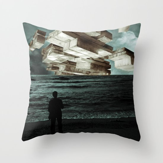 Autumn Tryst or, The Architect's Daydream Throw Pillow