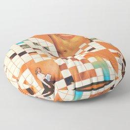 Orange poem Floor Pillow
