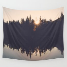 Wooded Lake Reflection  - Nature Photography Wall Tapestry