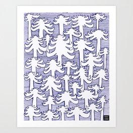 Fondo Araucarias Art Print