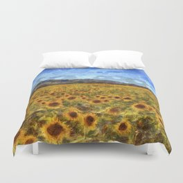 Vincent Van Gogh Sunflowers Duvet Cover