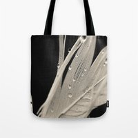 feather Tote Bags featuring Feather by Dora Birgis