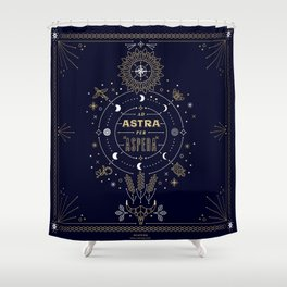 Ad Astra Per Aspera Shower Curtain