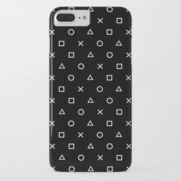 Gamer Pattern (White on Black) iPhone Case