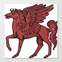 Pegasus shield 3. Canvas Print