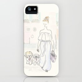 Venice Pastels and Pooches : Fashion and Fluffballs iPhone Case