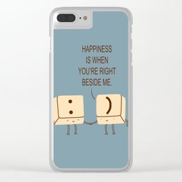 Happy Smile Keyboard Buttons Clear iPhone Case