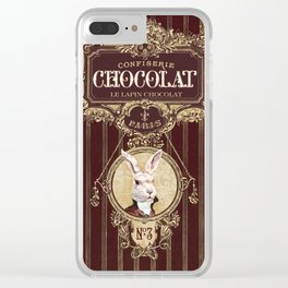 Chocolate rabbit Clear iPhone Case