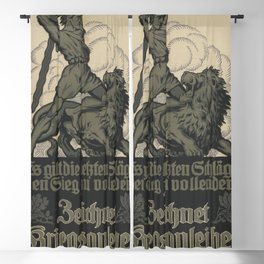 Vintage First World War Poster - Germany: The Final Blows to Complete the Victory! (1917) Blackout Curtain