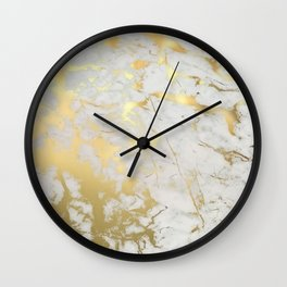 Gold marble Wall Clock