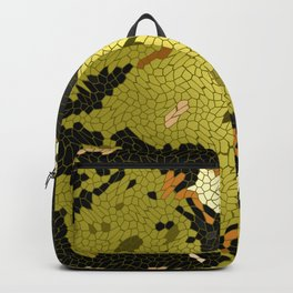 Abstract leaves mosaik Backpack