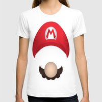 mario T-shirts featuring Mario by Aaron Macias