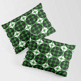 Hidden Circles - Green And Black Geometric Design Pillow Sham