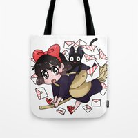 kiki Tote Bags featuring Kiki by IdentityPollution