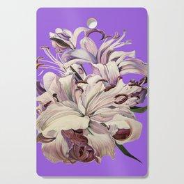 """Purple Lilies"" Cutting Board"