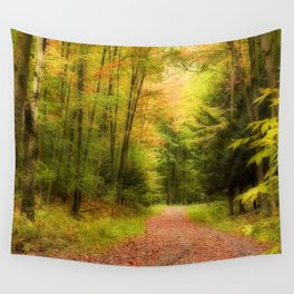 Autumn path II Wall Tapestry