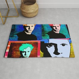 DYLAN THOMAS (FUNKY-COLOURED 4-UP COLLAGE) Rug