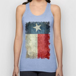 Texas flag, Retro style Vertical Banner Unisex Tank Top