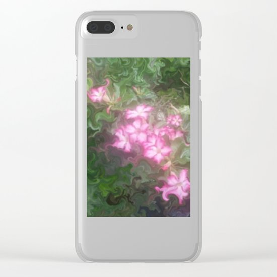 Pretty Love Flowers Clear iPhone Case