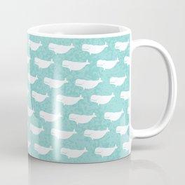 Turquoise beluga pattern Coffee Mug