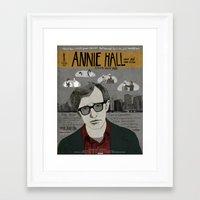annie hall Framed Art Prints featuring Annie Hall Movie Poster/ Woody Allen by Armineh Moghadasi