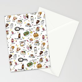 Muchies and Snacks Stationery Cards