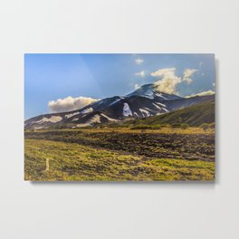 Looking at a Volcano Metal Print