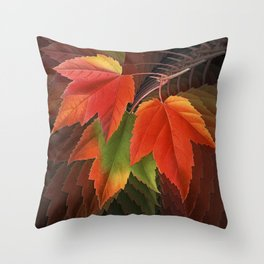 Maple Leaves Spiral Throw Pillow
