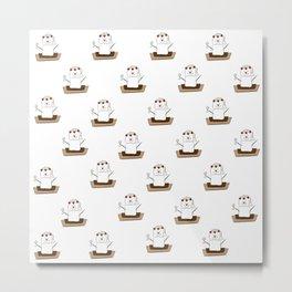 S'mores Bride Pattern Metal Print